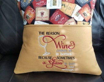 Wine Pocket Pillow