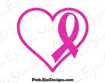 Breast Cancer Svg, Breast Cancer Ribbon Svg, Breast Cancer Awarenss Svg, Breast Cancer Awareness Ribbon Svg, Cancer Svg, Cancer Ribbon Svg