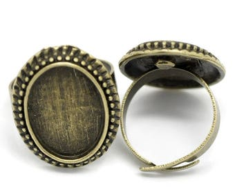 2 support ring adjustable bronze ring 13 x 18 mm