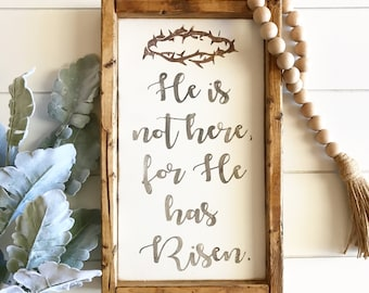 He is not here, he has risen sign