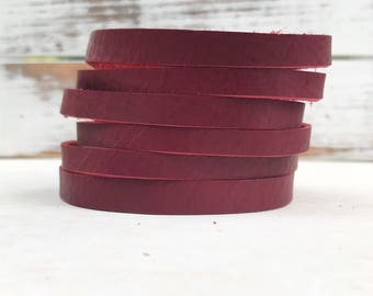 Leather Bangle Bracelet - Santa Suit
