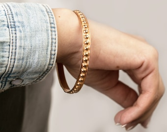 red gold cuff-vintage gold plated bracelet