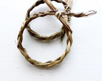 Sweetgrass Braid// Harvested in Saskatchewan//Sacred grass// Purify & Clear//Energy//Meditation//Ceremonial Smudge