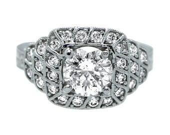 14k White Gold 1.38 ct Diamond Engagement Ring