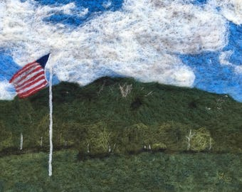 Giant Mountain from the Ausable Club - Original Felted Wool Art of Giant Mountain in New York's Adirondacks