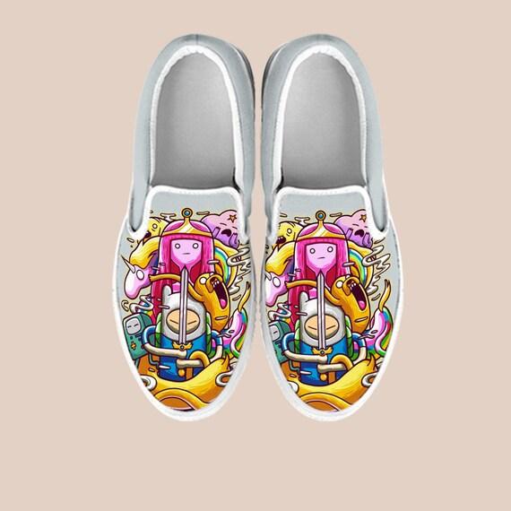 Vans The Time Finn Shoes Jake Bmo Shoes Jake Slip Jake Shoes Adventure And Adventure Vans Time Shoes Custom Finn Cartoon Dog On Shoes n1q6xOz