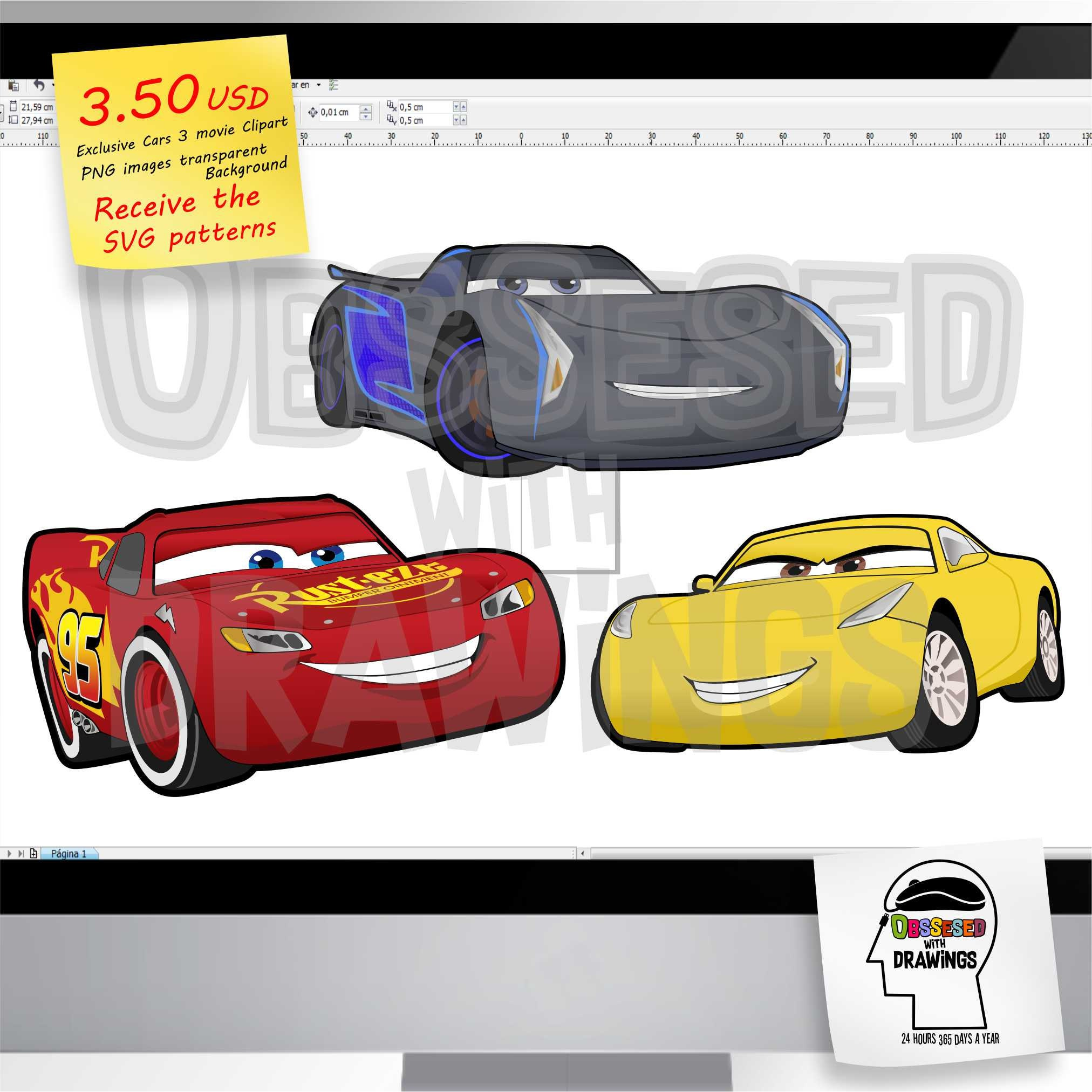 Disney Cars 3 Movie Clipart PNG Images With Excellent