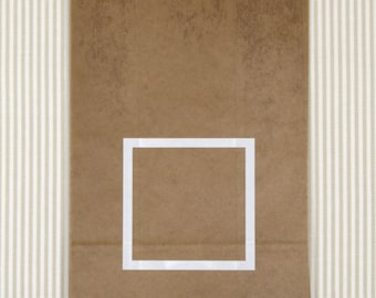 Waxed Kraft Paper Bags - set of 5
