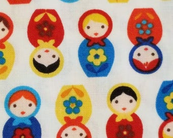 Suzy's Minis Russian Doll fabric in Country by Robert Kaufman