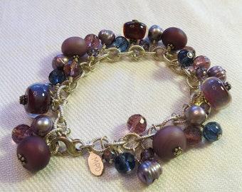 Deep Purple Cha-Cha Charm bracelet