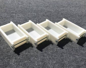 Lot of 4 HDPE Soap Loaf Making Mold 1 - 2 lb per mold CP MP Hp Oven Safe