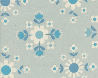 Welsummer by Kimberly Kight for Cotton and Steel -- Fat Quarter of Florametry in Ice