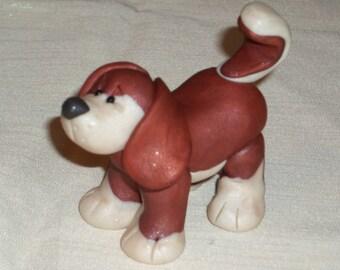 FIMO Puppy Figurine