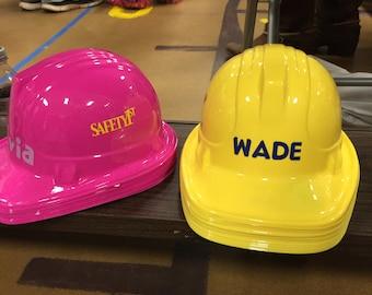 Kids Construction Hard Hats (plastic)