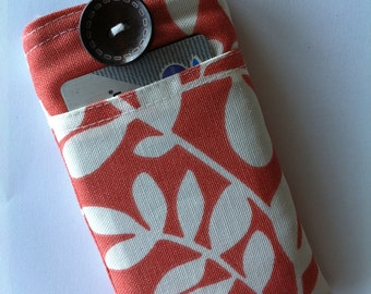 iPhone 7 Wallet - iPhone 6 Case - iPhone 7 Case - Coral Leaves Water Resistant