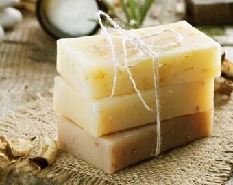 Lemongrass Essential Oil Goat's Milk Soap | Sensitive Skin Soap | Dry Skin Soap