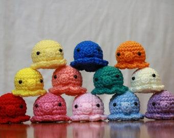 Octopus Plush Keychain Handmade Crochet Amigurumi