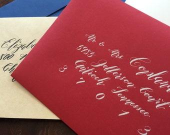 Potato style Calligraphy, wedding and event invitation envelope addressing