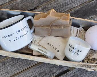 Bridesmaid gift box bridesmaid proposal bridesmaid box maid of honor gift will you be my bridesmaid wedding gift box keepsake box funny