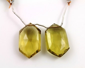 Natural brazilian whiskey topaz faceted fancy gemstone drop,14x22 mm, 1 Full Strand, (TPZW/FCY/14x22)