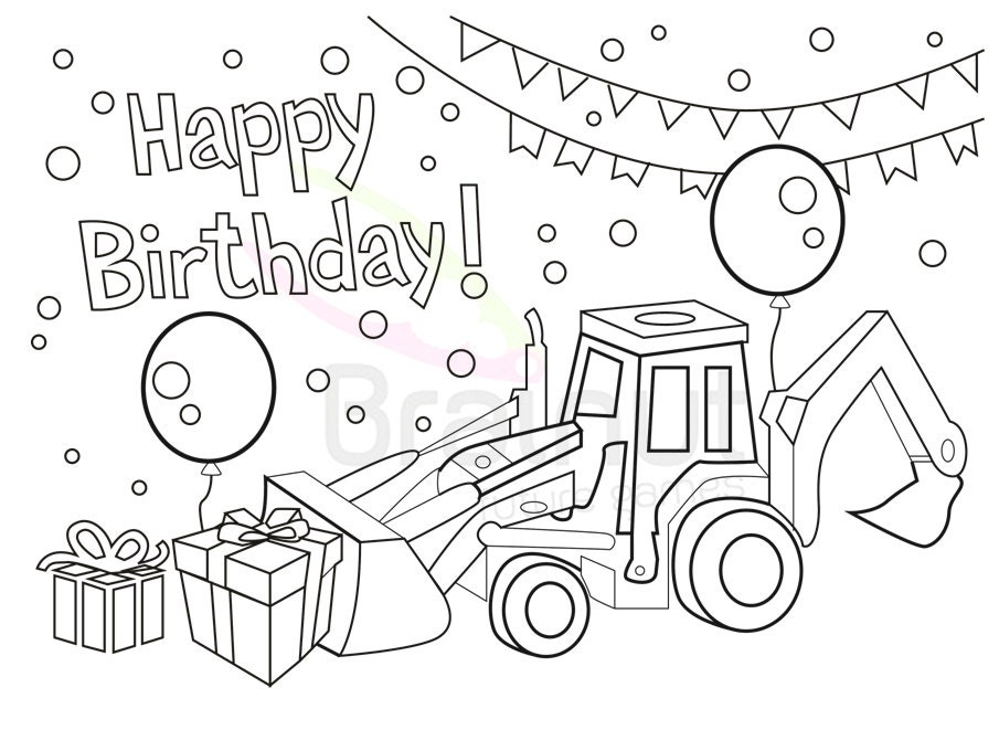 love birthday coloring pages - photo#1
