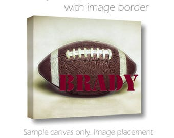 Custom Football Canvas-Personalized Wall Art-Name Art-Sports Wall Decor-Fine Art Canvas Print-Boys Room Wall Art-Athletic Wall Decor