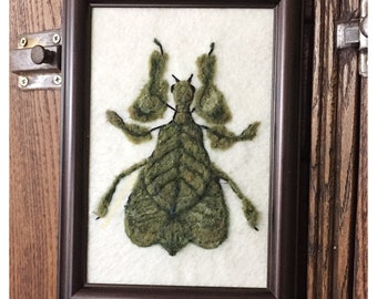 Needle felted Insect