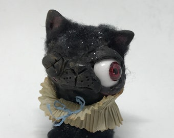 Zombie kitty Original one of a kind art doll