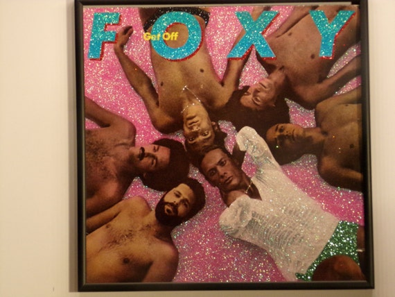 Glittered Record Album - Foxy - Get Off