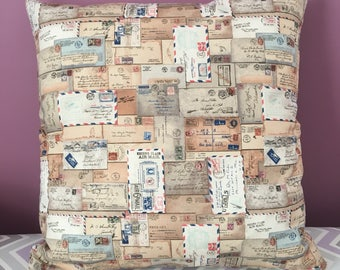 Vintage Mail 20x20 Decorative Pillow
