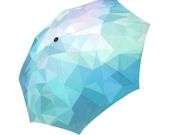Blue Umbrella Teal Umbrella Floral Designed Umbrella Geometric Umbrella Rainbow Umbrella Photo Umbrella Automatic Abstract Umbrella