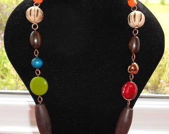 CLEARANCE Ethnic Tribal Bright Bead Necklace