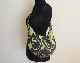 MARIMEKKO Light Green & Black Women's Canvas Bag