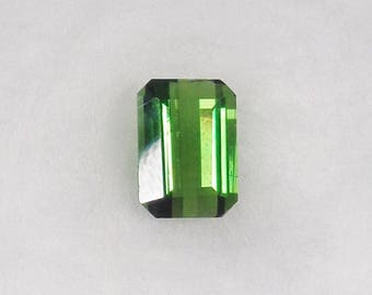 Green Tourmaline Loose .96ct Natural Octagon Cut Faceted Gemstone