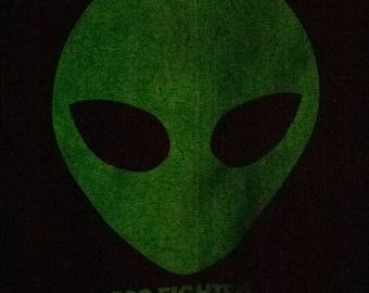 1995 FOO FIGHTERS shirt - vintage 90s - glow in the dark alien - roswell records