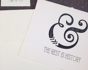 And the rest is history - 4 pack flat cards with envelope, thank you card