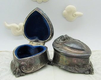 pair of Weidlich Brothers (W.B.) Mfg Co. Casket Trinket Boxes