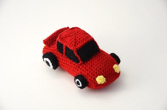 Amigurumi Patterns Cars : Race car crochet pattern race car amigurumi sports car