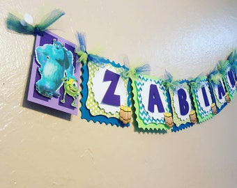 Monsters Inc Name Banner