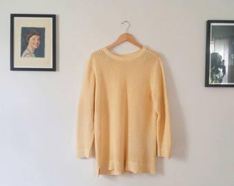 Vintage Cream Open Knit Sweater