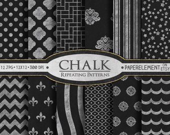Chalk Digital Paper: Printable Blackboard Digital Paper with Chalkboard Art -  Chalk Scrapbook Paper with Chalk Board Art