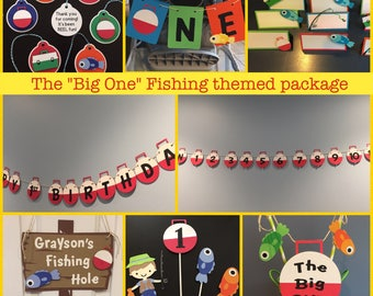 The Big One birthday package; Fishing theme package