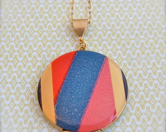 The Color Block Locket - Vintage - Verabel and Fox