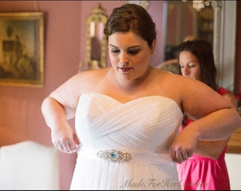 Aqua Crystal Sash, Wedding dress sash-wedding Sash Belt-Pearl Sash-Rhinestone belt-Bridal Belt Aqua-Bridal Sash-Blue Sash, something Blue