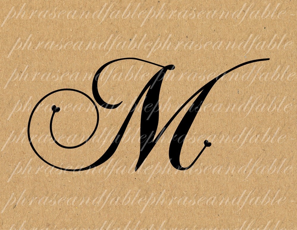 72 Letter M Font Styles