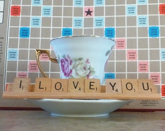 I Love You Scrabble Sign or Nameplate Made to Order
