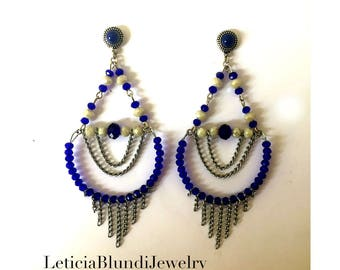 Crystals and Chains Earring
