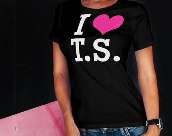 Women's I Love T S shirt - for all T.S. fans short sleeve t-shirt