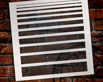 """1/16"""" to 1 1/2"""" Banding Stencil - STCL1504 - by StudioR12"""