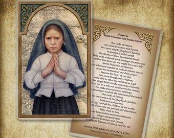 St. Jacinta Marto Holy Card or Wood Magnet #0007